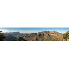 Drie Rondavels Zuid-Afrika - panoramische fotoprint