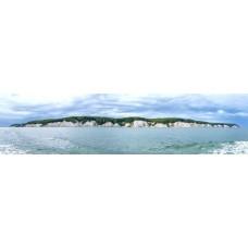 Eiland in zee - panoramische fotoprint