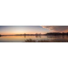 Elbe - Duitsland - zonsondergang - panoramische fotoprint
