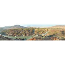 Epupa waterval Namibie - panoramische fotoprint