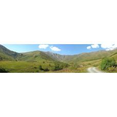 Georgië bergen - panoramische fotoprint 2