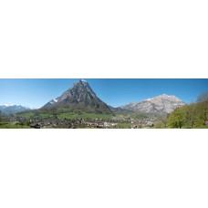 Glarus-alp Zwitserland - panoramische fotoprint