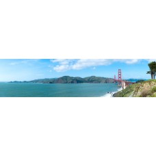Golden Gate Bridge USA - panoramische fotoprint