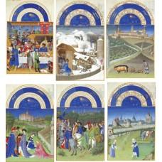 12 Maandkaarten naar de Très Riches Heures du Duc de Berry