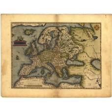 Kaart van Europa - Ortelius - 1572