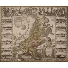 Hollandse Leeuw kaart - Visscher, 1648