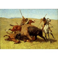 Bizonjacht - Frederic Remington -1890