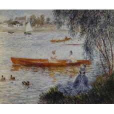 Bootje varen bij Argenteuil - Renoir - 1873
