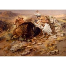 Buffalo Hunt - Charles M. Russell
