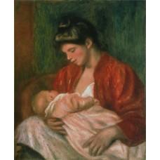 De jonge moeder - Renoir - 1898