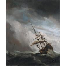 De Windstoot - Willem van de Velde de Jongere - 1707