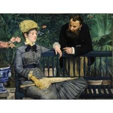 In de serre - Edouard Manet - 1879