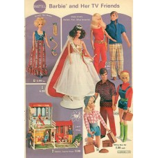 Barbie and her TV friends - Alden's Kerst catalogus 1972