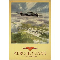 Aero-Holland poster Ypenburg - model B