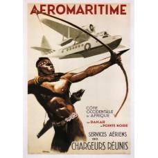 Aeromaritime poster - 1950