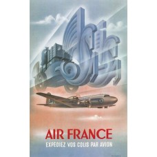 Air France luchtvracht poster - 1949