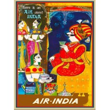 "Air India poster ""There is an air about India"""