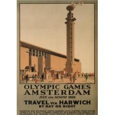 Olympische Spelen Amsterdam 1928 - poster A