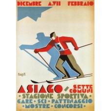 Asiago wintersport poster - 1929