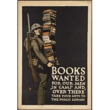 Books Wanted poster - 1e Wereldoorlog