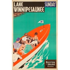 Boston and Maine poster - Lake Winnepesaukee