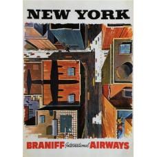 Braniff poster New York - 1954