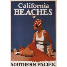 California beaches - Southern Pacific poster - 1923