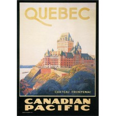 Canadian Pacific poster - Quebec - 1924