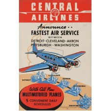 Central Airlines poster - 1949
