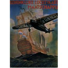 """KLM poster """"Vliegende Hollander"""" - 1929"""