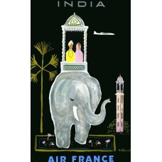 Air France poster India - 1956