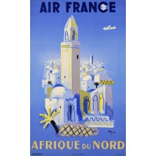 Air France poster Noord-Afrika - 1950