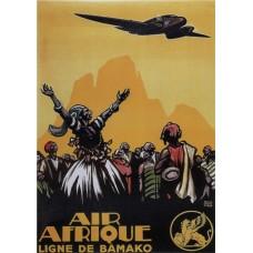Air Afrique poster - 1925