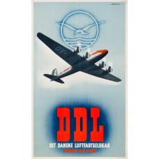 DDL - Det Danske Luftfartskelskab - poster