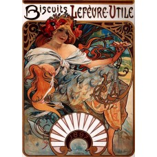Biscuits Lefèvre-Utile - Alfons Mucha - 1896