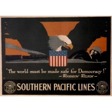 """""""The World must be made safe for democracy"""" poster - 1918"""