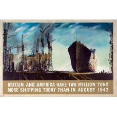 """""""Two million tons more shipping"""" poster - ca. 1943"""