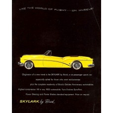 Buick Skylark advertentie - 1953