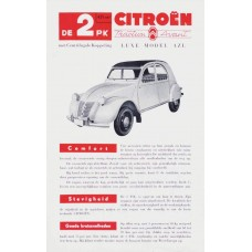Citroën 2CV AZL - brochure cover - 1955