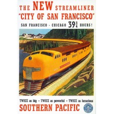 City of San Francisco advertentie - Southern Pacific - 1938
