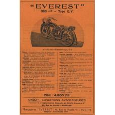 Everest 350 advertentie - 20er jaren