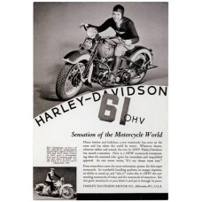 Harley-Davidson advertentie - 1936