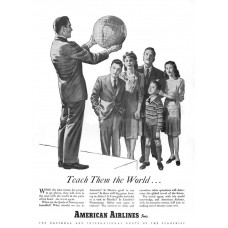 American Airlines - ... teach them the World advertentie